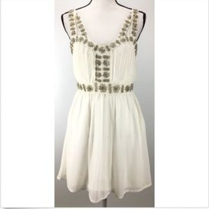 TOPSHOP Dress Size 8 Sleeveless Ruffles Sweetheart